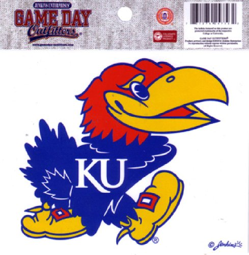 jayhawk window decal - 3