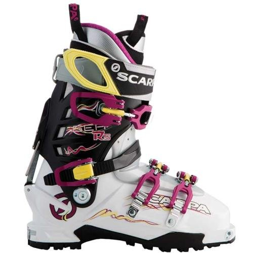 Boots Touring Ski Scarpa (Scarpa Gea RS Ski Boot - Women's Ski boots 26 White/Magenta/Limelight)