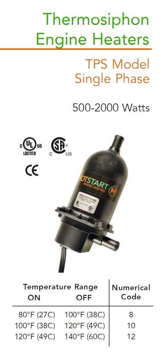 1 Year Warranty! Original HOTSTART Engine Heater TPS101GT8-000 Coolant preheater
