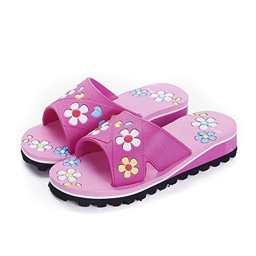 di uomini fondo BAOZIV587 e pantofole Casa antiscivolo indossare bagno e all'aperto sandali morbido traspirante coppie pantofole moda donne Estate leggero selvaggia nero 41 casa w7waq