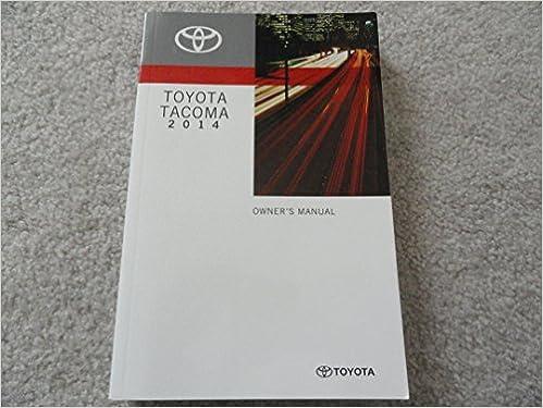 2014 tacoma owners manual