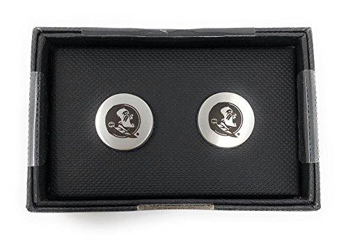 Laser Engraved Gifts FSU Florida State University Cuff Links Silver Cufflink Set ()