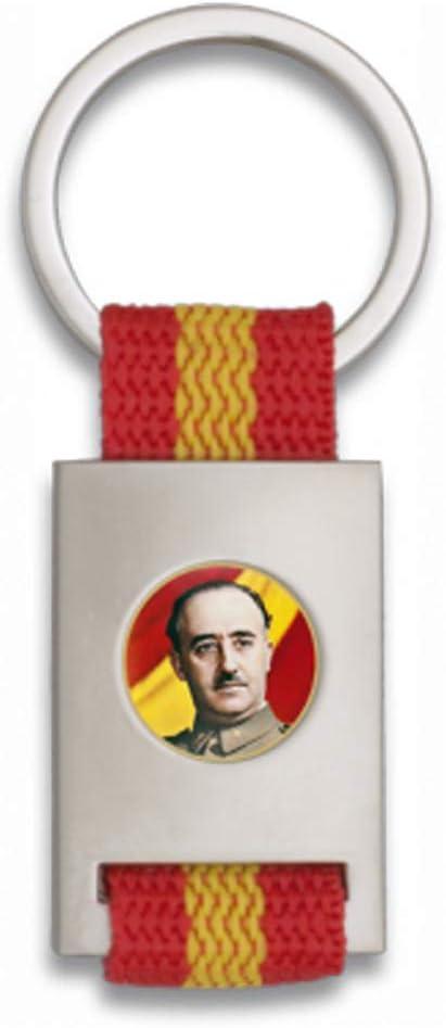 Tiendas LGP Albainox- Llavero Bandera de ESPAÑA y Chapa Francisco ...