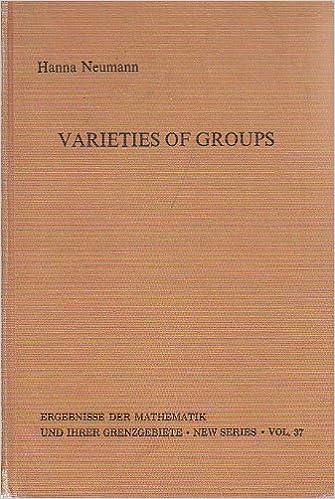 Varieties of groups (Ergebnisse der Mathematik und ihrer