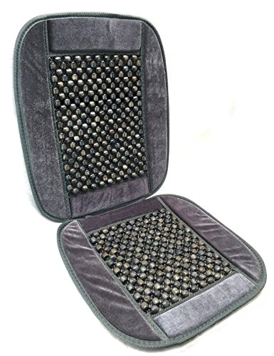 Royal Premium Bamboo Wooden Beaded Seat Cover Massage Cool Comfort Cushion - For Office, Truck and Car Seats (Pack of One, Grey)