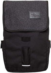 Zildjian Gray Flap Black Laptop Backpack (T9001)