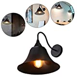 ruist Retro Industrial Iron Vintage Wall Scone Storage Loft Black Wall Lamp