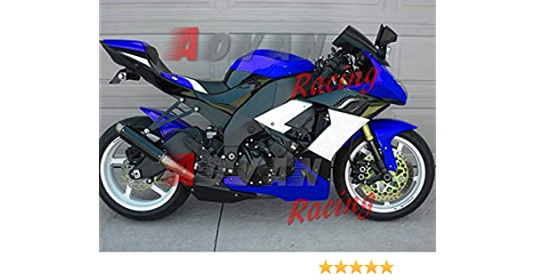 Moto Onfire Fairing Kits For 2008 2009 2010 Kawasaki Ninja ZX10R ZX-10R ZX 10R ABS Injection Mold - Blue