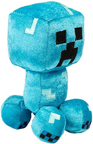 JINX Minecraft Happy Explorer Charged Creeper Plush Stuffed Toy Blue 7 Tall