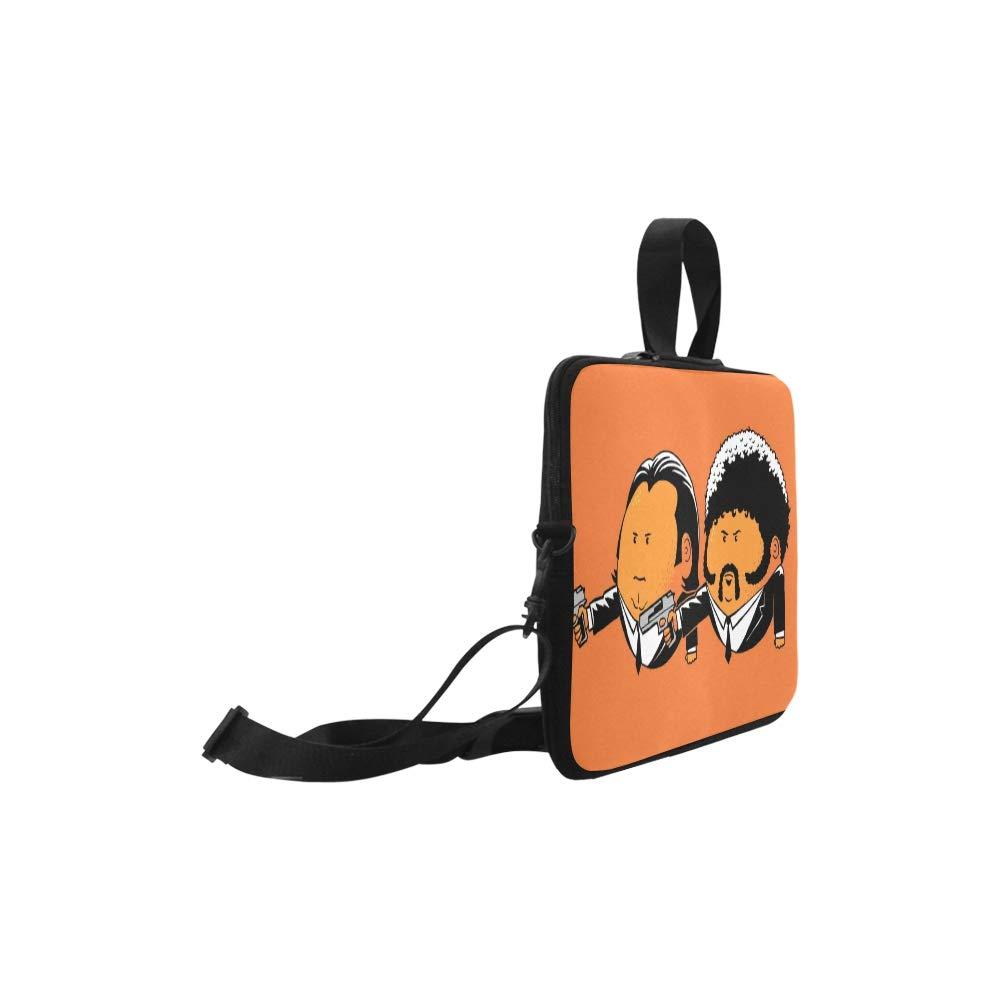 28ddb82b603 Amazon.com  Pulp Fiction John Travolta Vincent Vega Samuel L J Pattern  Briefcase Laptop Bag Messenger Shoulder Work Bag Crossbody Handbag for  Business ...