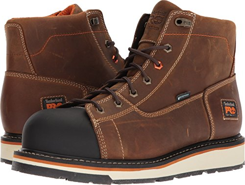 Timberland PRO Men's Gridworks Soft Toe Waterproof Industrial Boot, Brown, 9.5 M US ()