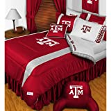 NCAA Texas A-M Aggies King Comforter Pillowcases Set College Football Team Logo Bed