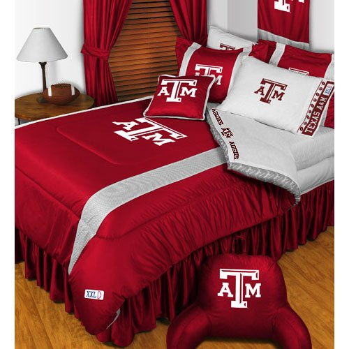 NCAA Texas A-M Aggies King Comforter Pillowcases Set College Football Team Logo Bed by NCAA