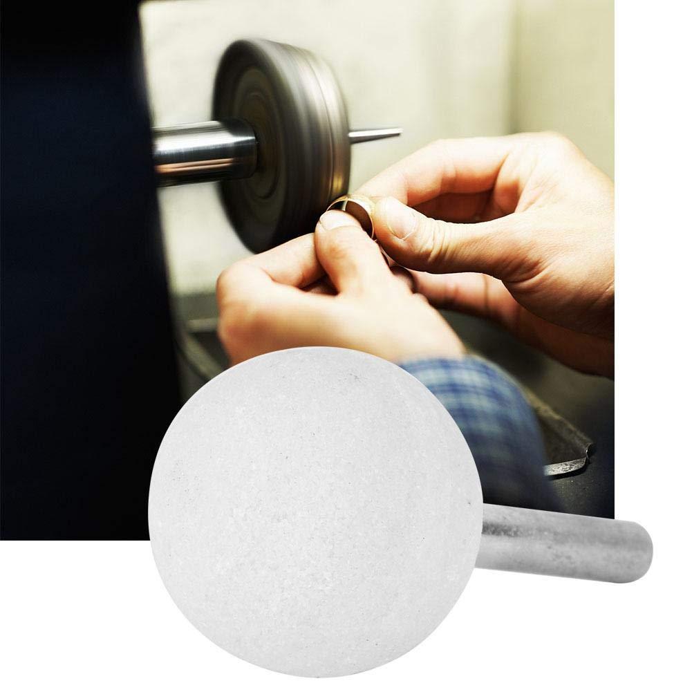 Zerone 10pcs White Corundum Ceramic Mounted Point Grinding Polishing Head Stone Buffing Wheel 630MM