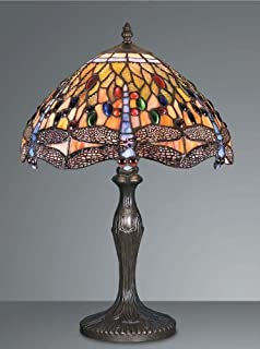 Dragonfly tiffany table lamp amazon lighting dragonfly tiffany table lamp hs203012 aloadofball Gallery