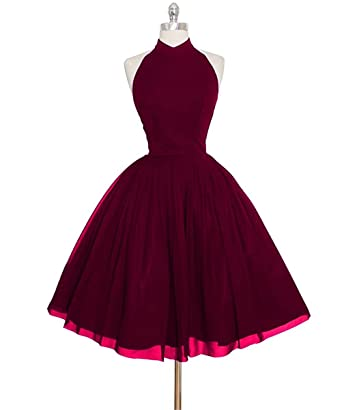 Vickyben Womens short Halter Prom Dress Homecoming Dress Mini Party Dress Ball Gown
