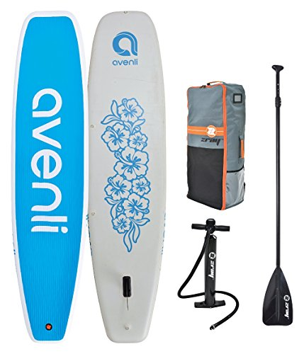 "Z-Ray 11' Yoga SUP Inflatable Stand Up Paddle Board Package w/ Pump, Paddle and Travel Backpack, 6"" Thick"