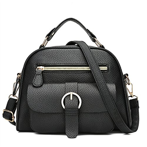 GWQGZ Señoras Moda Casual Bolsa Cuadrado Negro Black