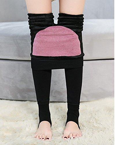 GBHNJ Leggings Femmes Mince Plus Épais Taille Haute Peut Se Porter À L'Extérieur Pantalon Coton Rouge Transparent F(Poids Approprié 80-130 Catty)