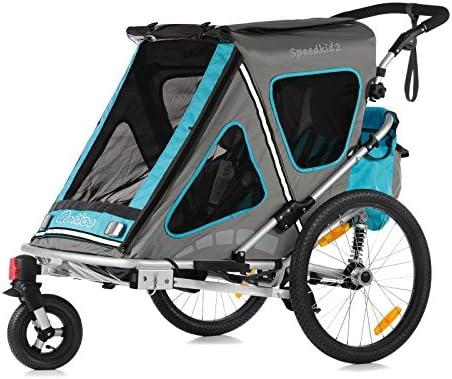 Qeridoo Speedkid2 - Carrito-remolque de bicicleta 2 en 1 para ...