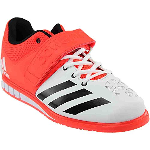 adidas Performance Men's Shoes | Powerlift.3 Cross-Trainer, Solar Red/Black/White, 9.5 M US