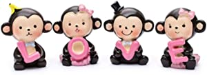 Creative Cute Love Monkeys Dashboard Decorations Car Home Office Ornaments, Birthday Cake Decorations, Cake Topper, Birthday (Style 2)