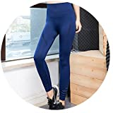 Summer-lavender Yoga Tight Trousers high Elasticity Quick-Drying Breathable Running Jump Fitness Pants Female,Navy Blue,S/M