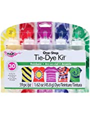 Tulip TULIP ONE Step TIE-DYE KIT 5 Colour Rainbow Tie Dye Kit, Rainbow, 1.62oz, 59 Pieces
