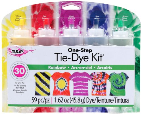 (Tulip One-Step 5 Color Tie-Dye Kits Rainbow,1.62oz)