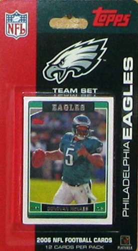 2006 Topps Philadelphia Eagles Limited Edition Football Cards Team Set (12 Cards) - Not Available in Packs - Includes Donovan McNabb and more!!