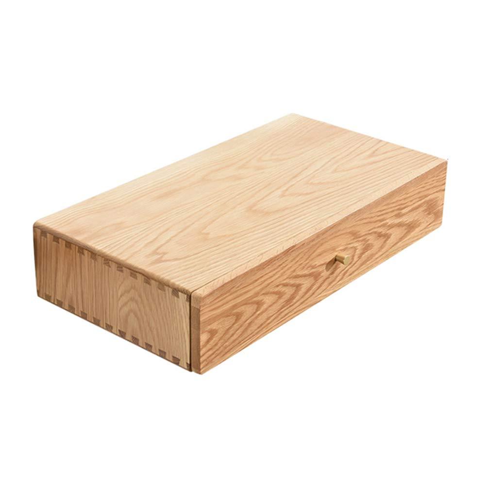 LIANGJUN 浮遊式壁棚 壁掛け式引き出し ベッドサイドテーブル 無垢材 多機能 環境を守ること (色 : B, サイズ さいず : 60X31.5X12CM) B07KYRXMV4 B 60X31.5X12CM