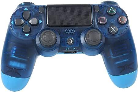Akaddy Wireless Bluetooth Gamepad Joystick Controller for Sony PS4 (Clear Blue)