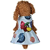 Auwer Pet Summer Clothes,Pet Dog Puppy Breathable Conch Beach Dress Dog Dress Princess Dress (XS, sky blue)