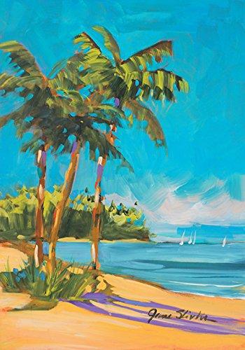Garden Sand Flag - Toland Home Garden Island Time 12.5 x 18 Inch Decorative Tropical Summer Beach Ocean Sand Garden Flag