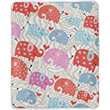 ALIREA Texture Of The Elephants In Peas Super Soft Warm Blanket Lightweight Throw Blankets for Bed C