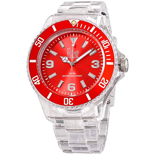 (Ice-PURE Red Dial Plastic Strap Unisex Watch PU.RD.B.P.12)
