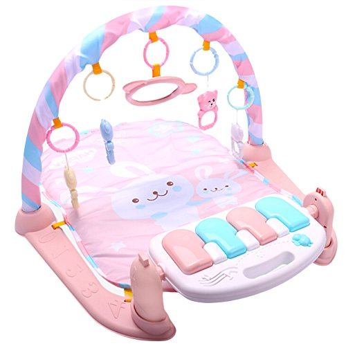 REFURBISHHOUSE Baby Play Mat Baby GymToys 0-12 Months Soft Lighting Rattles Musical Toys for Babies Brinquedos Play Piano Gym