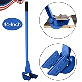 TUFFIOM 44-Inch Pallet Buster Tool with Extended Padded Handle & Free Nail Puller| Deluxe Industrial Pallet Breaker| Iron Pry Bar Deck Wrecker, Longer & Easier (Blue)