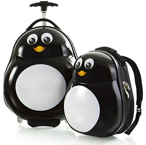 heys-america-travel-tots-lightweight-2pc-kids-luggage-backpack-set-penguin