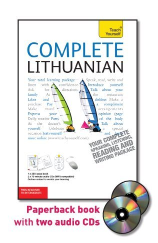 Complete Lithuanian  From Beginner To Intermediate  With Paperback Book   Teach Yourself
