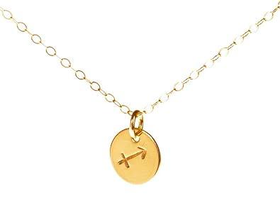 032f48cae Amazon.com: EFYTAL Sagittarius Necklace - Tiny Gold Filled Simple ...