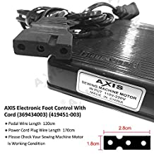 Electronic Foot Control With Cord (369434003) (419451-003) Serger Sewing Machine Singer Foot Pedal Variable Speed Controller for Juki Babylock Bernette Consew Elna Euro-Pro Mammylock Replacement