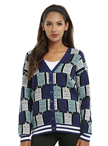 Doctor Who TARDIS Print Girls Cardigan (Hot Topic Doctor Who)