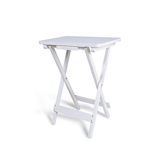 Folding Table Mesa Cuadrada Plegable para Escritorio pequeño y ...