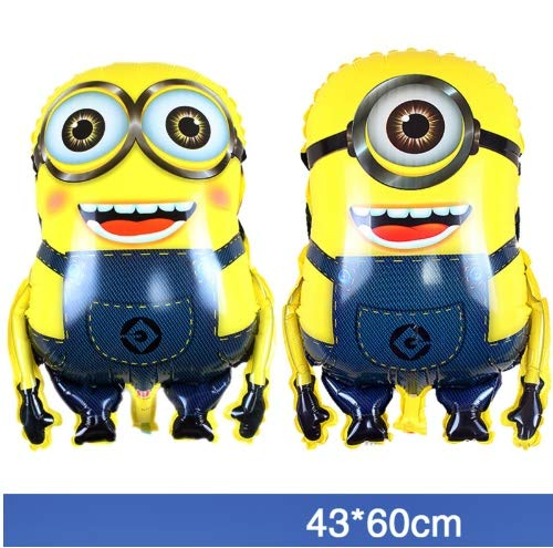 Flamingo Bonut minion balloons Lovely 2pcs/lot 43 * 60cm JUMBO Despicable Me minions balloons large ballon helium baloons for party minion party foil GLOBOS -
