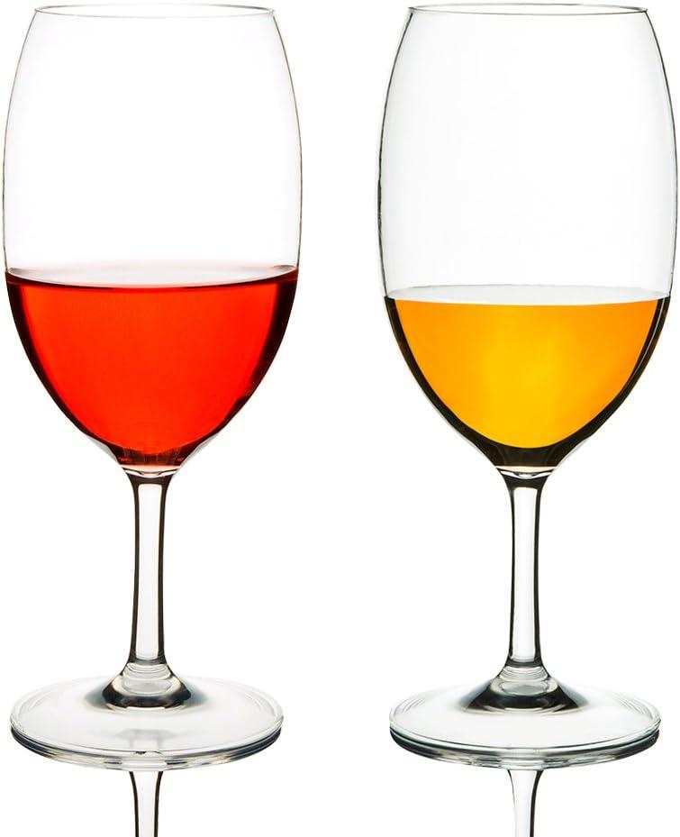 MICHLEY Copas de Vino, 100% Tritan-plástico Irrompible Copas Vino Cristal, 55 cl Copas de Vino Tinto Grandes, BPA y EA Gratis Vasos de plastico Conjunto de 2
