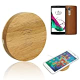 ABC® Wooden Qi Wireless Charger Charging Pad Support for LG G4 For Samsung