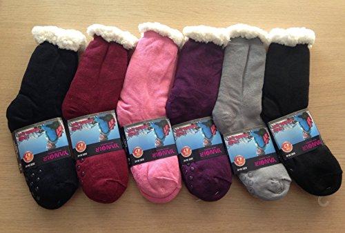 Yanoir Stocking Soft Non-Slip Thermal Slipper With Warm Faux Fur Lining Wool Sheepskin pink q4zaw