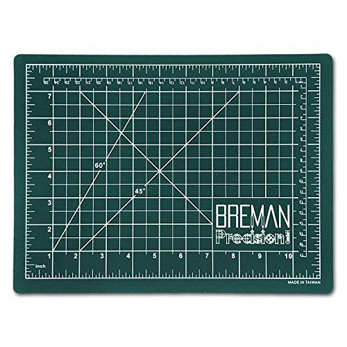 Fabric Mat - Breman Precision Self Healing Cutting Mat | Sewing Craft Quilting Fabric Rotary Cutting Mat for Crafters Hobbyists Artists | 2-Sided 5-Ply PVC Craft Mat with Grid Lines, Black/Green Sides (A2,18x24in)
