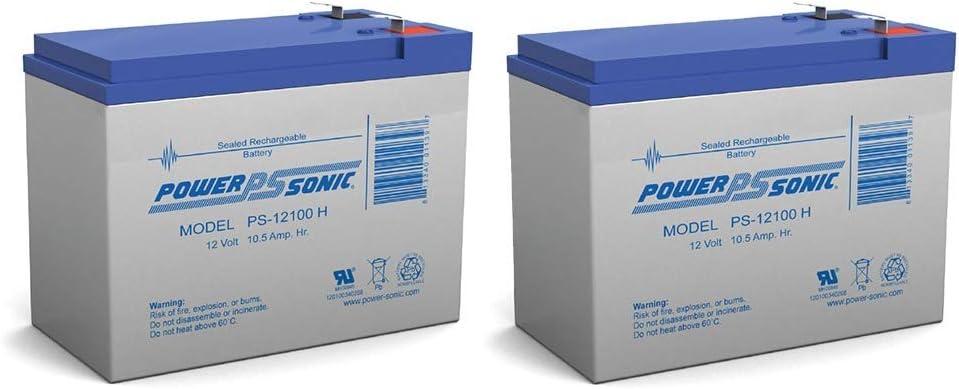 12V 10.5AH Battery for Currie Phat Flyer Scooter - 2 Pack 51xXmyK1VmL